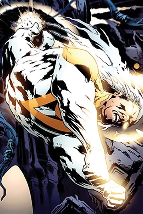 Apollo of the Authority (Wildstorm Comics) flying into battle