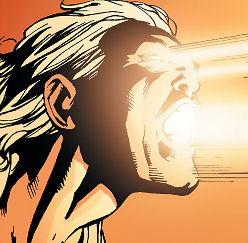 Apollo of the Authority (Wildstorm Comics) shooting light from his face