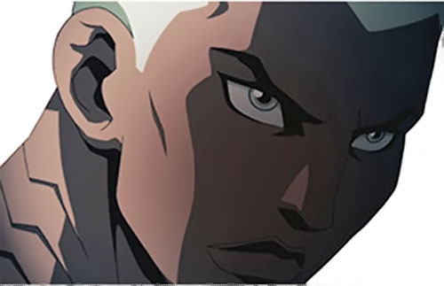 Aqualad from the Young Justice cartoon face closeup