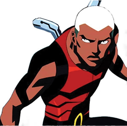 Aqualad from the Young Justice cartoon ready for a fight
