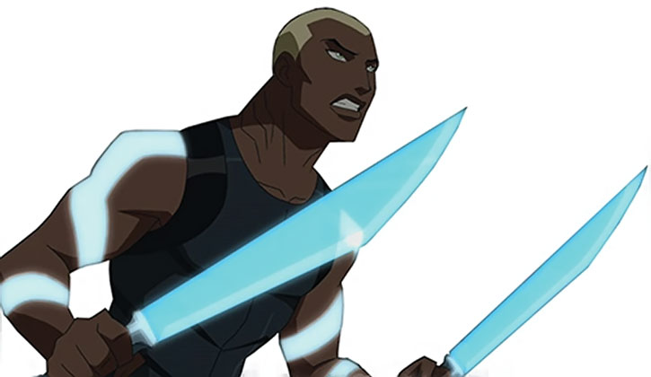 Aqualad with paired water swords