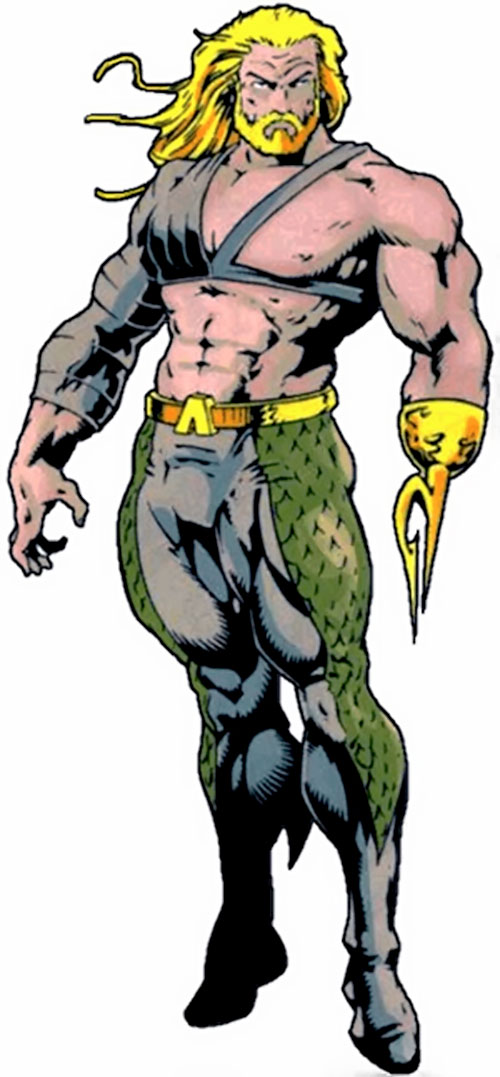 1990s Aquaman over a white background