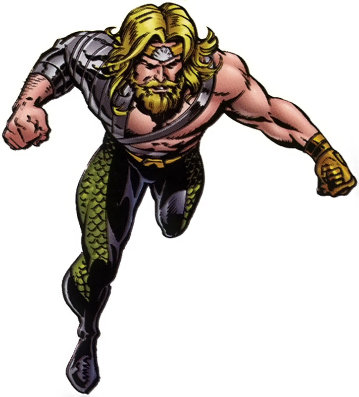2000s Aquaman with cybernetic hand