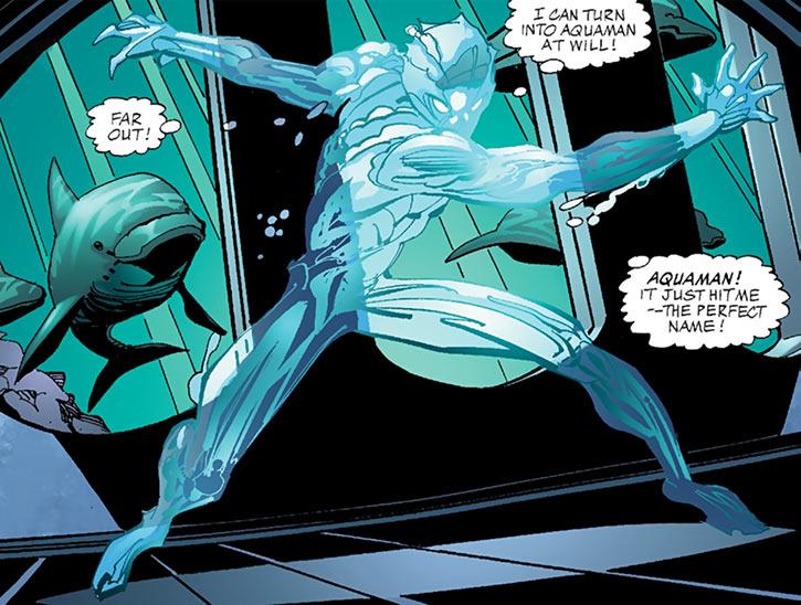 Aquaman (Imagine Stan Lee version) transforming