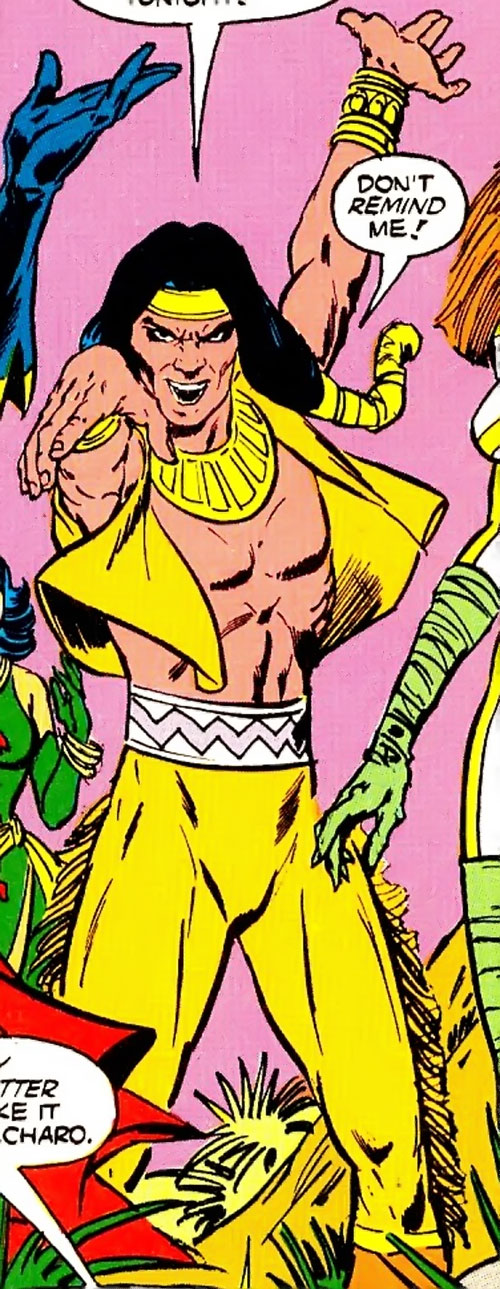 Arak the Wind Walker of Helix (Infinity, Inc. Enemy) (DC Comics) strikes a pose