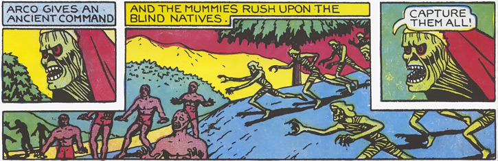 Arco (Fantomah comics by Fletcher) and his mummies