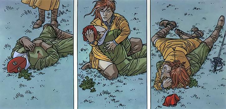 Masquerouge - 7 vies Epervier - Ariane de Troil - trouve Guillemot mort