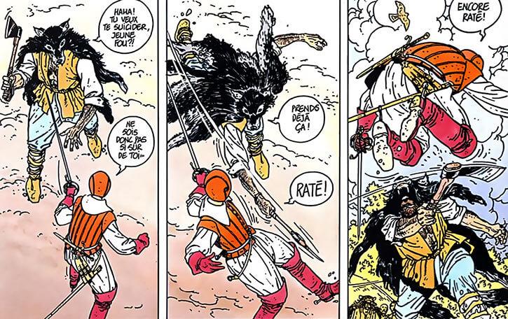 Masquerouge - 7 vies Epervier - Ariane de Troil - contre l'homme loup