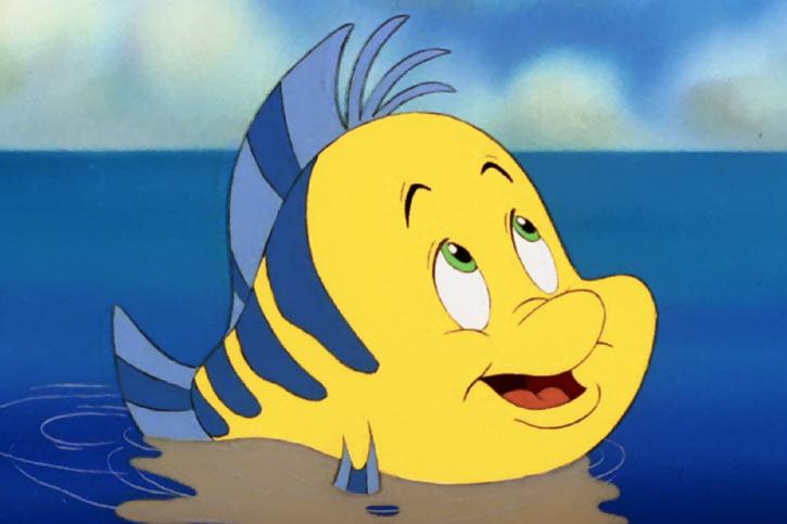 Flounder the fish - Ariel the little mermaid (Disney version)