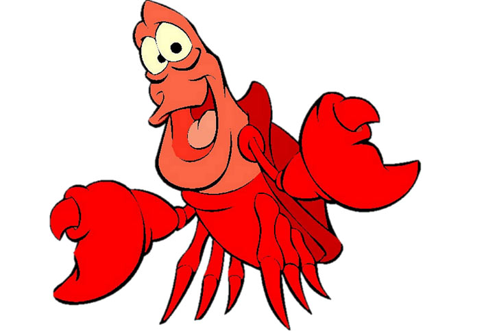 Sebastian the crustacean - Ariel the little mermaid (Disney version)