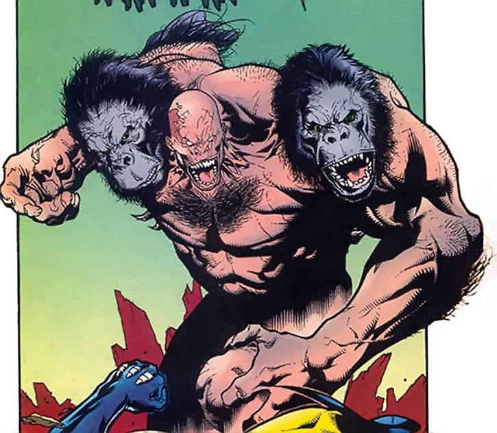 "Arnim Zola's ""Monkey Boy"" creature vs. Wolverine"