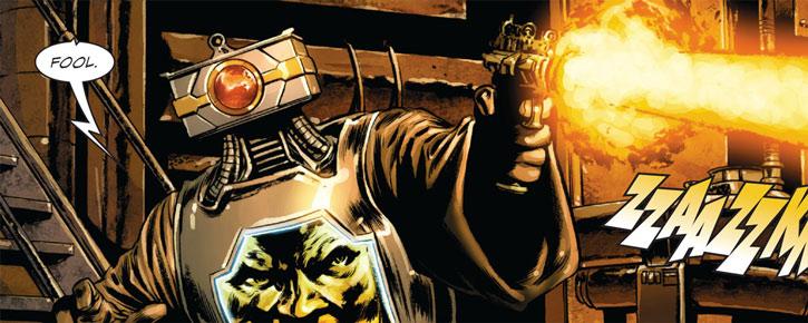 Arnim Zola shooting a pistol