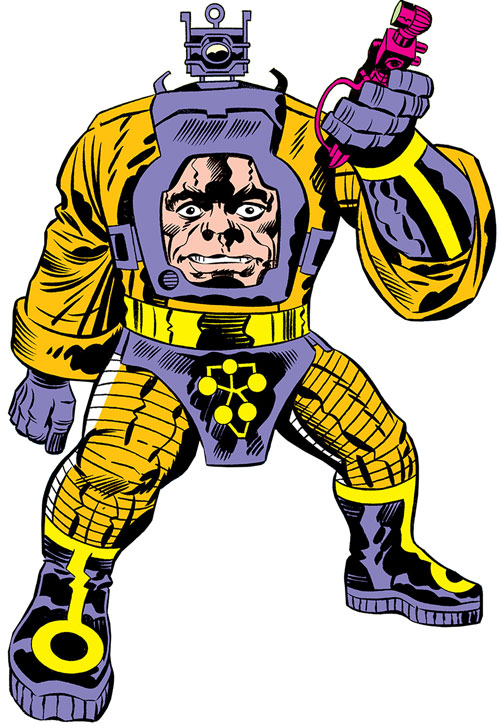 Arnim Zola in a Marvel pose and style