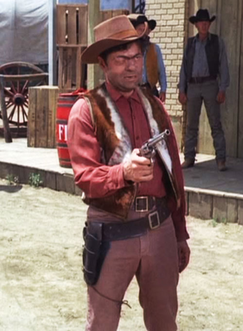 Artemus Gordon (Ross Martin in Wild Wild West) disguised as a red-faced cowboy
