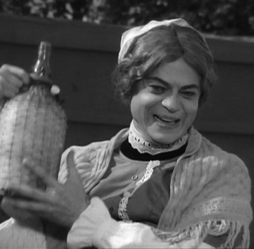 Artemus Gordon (Ross Martin in Wild Wild West) disguised as a waitress
