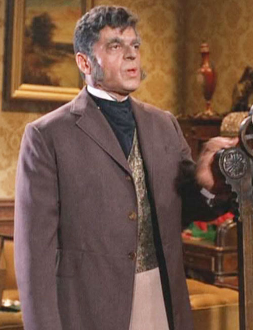 Artemus Gordon (Ross Martin in Wild Wild West) disguised with sideburns