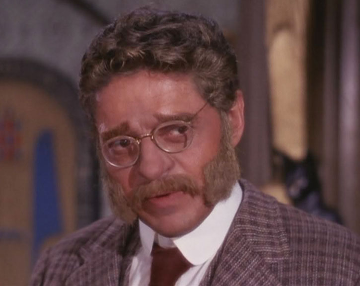 Artemus Gordon (Ross Martin) disguised with auburn hair and glasses