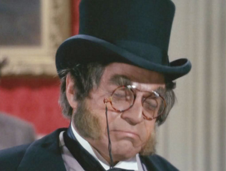Artemus Gordon (Ross Martin) with a top hat and glasses