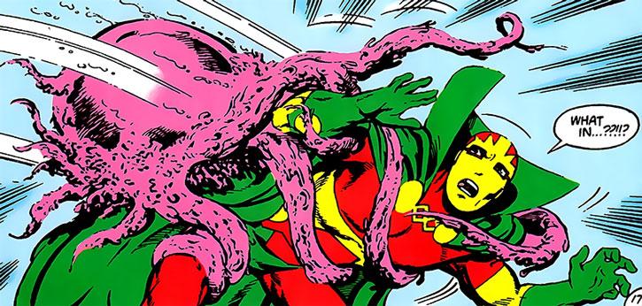 An Ash-Crawler attacking Mister Miracle