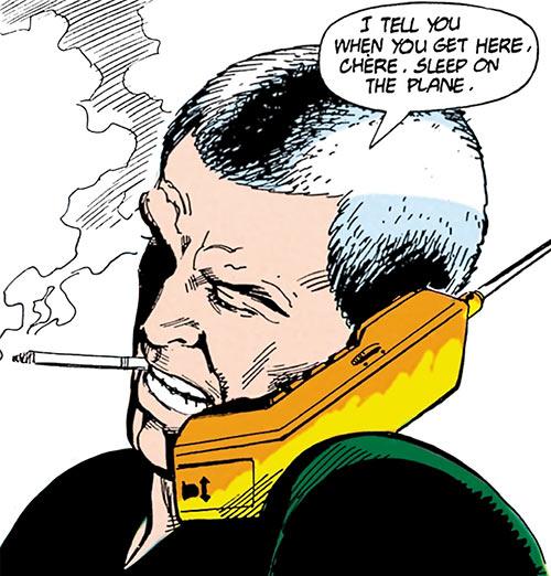 Ashe (Cinder & Ashe) (DC Comics) on the phone