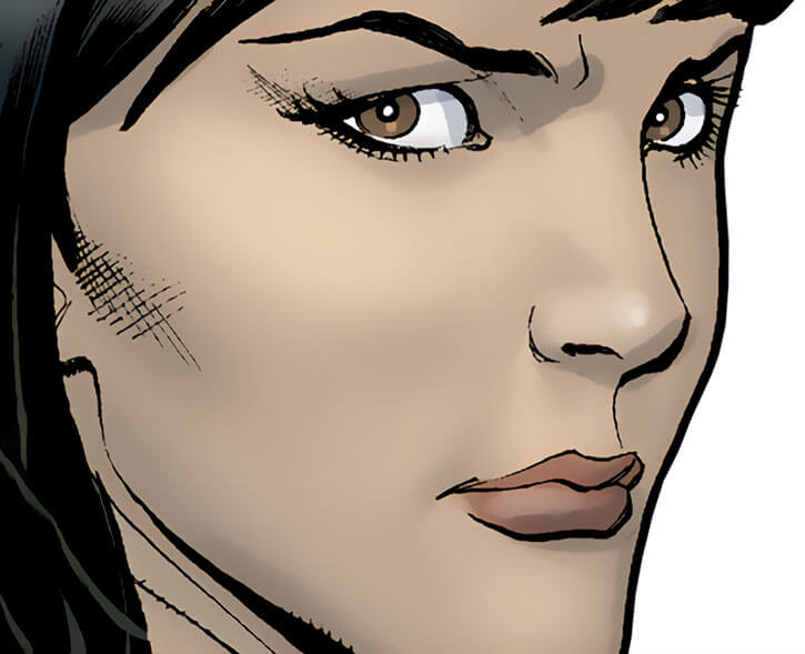 Asp (Marvel Comics) face closeup