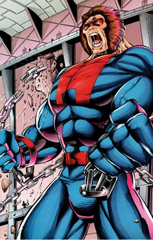 Atlas of Brigade (Image Comics) breaking his chains