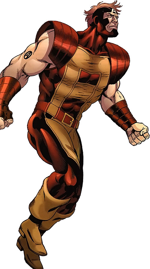 Atlas of the Thunderbolts (Marvel Comics) with the darker red costume