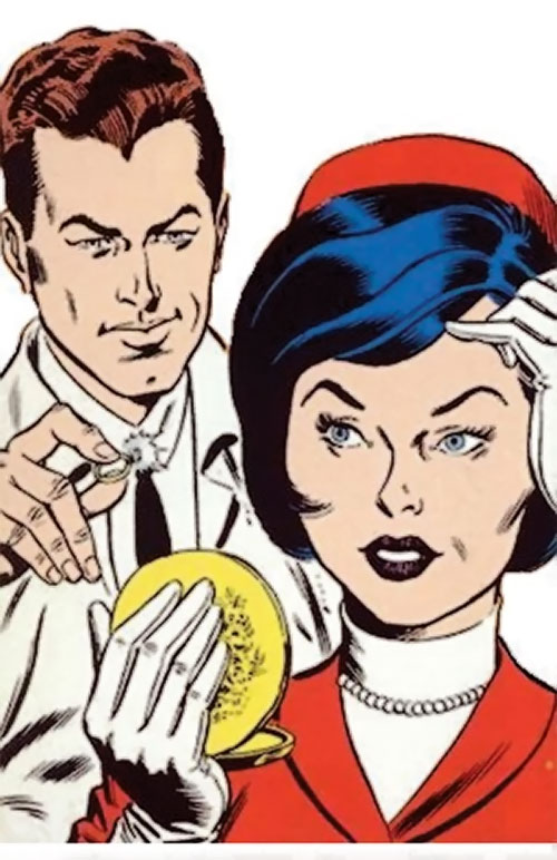The Atom (Ray Palmer) (DC Comics) with Jean Loring during the Silver Age