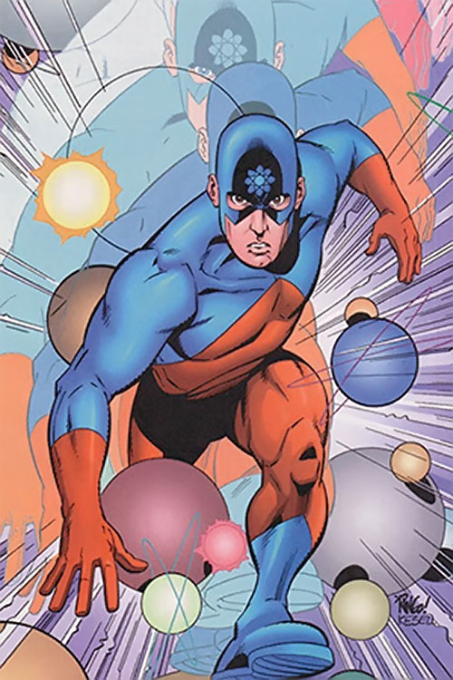 The Atom (Ray Palmer) (DC Comics) shrinking to atomic size