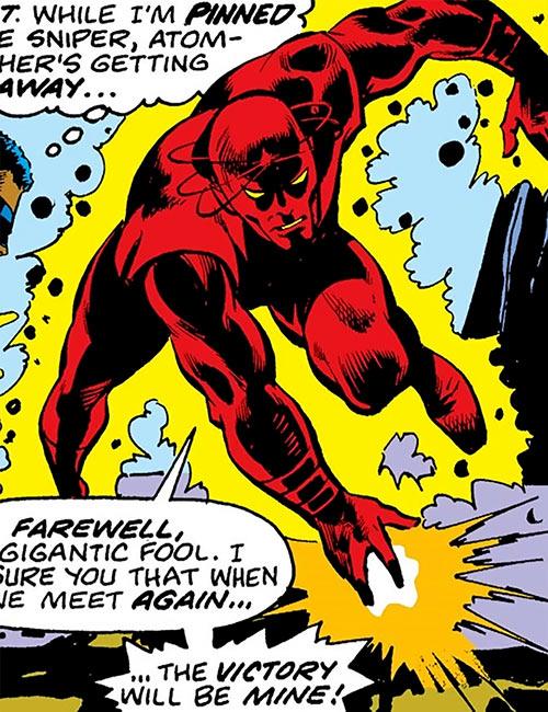 Atom-Smasher (Black Goliath & Thing enemy) (Marvel Comics) surrounded by energy