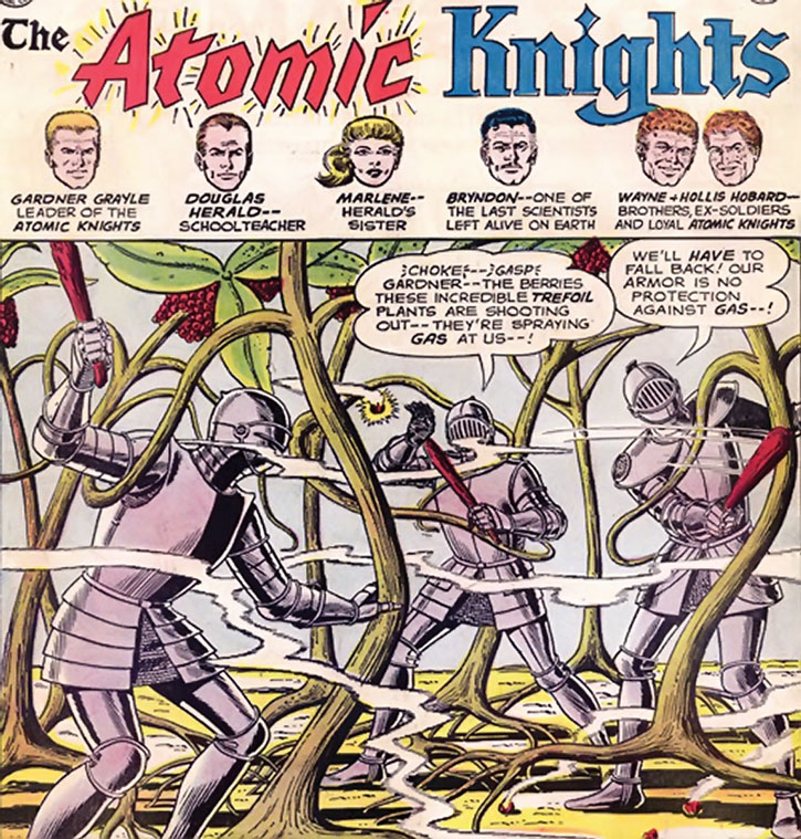 The Atomic Knights fight mutant trefoil