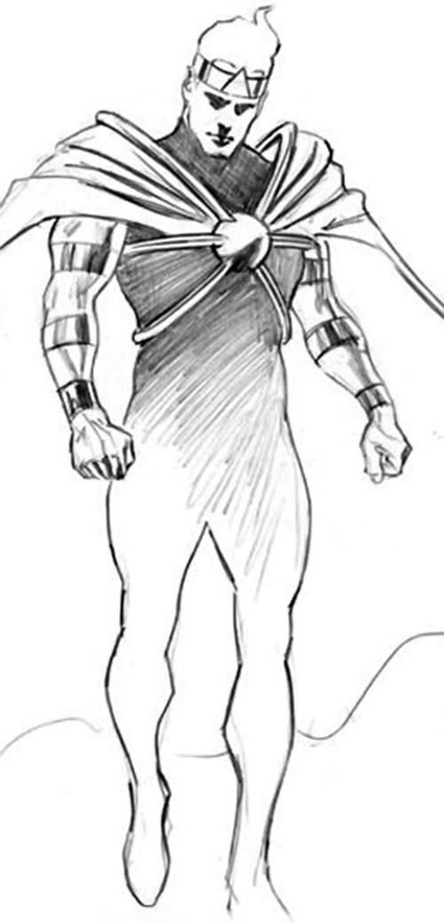 Atomicus (Astro City comics) pencil sketch