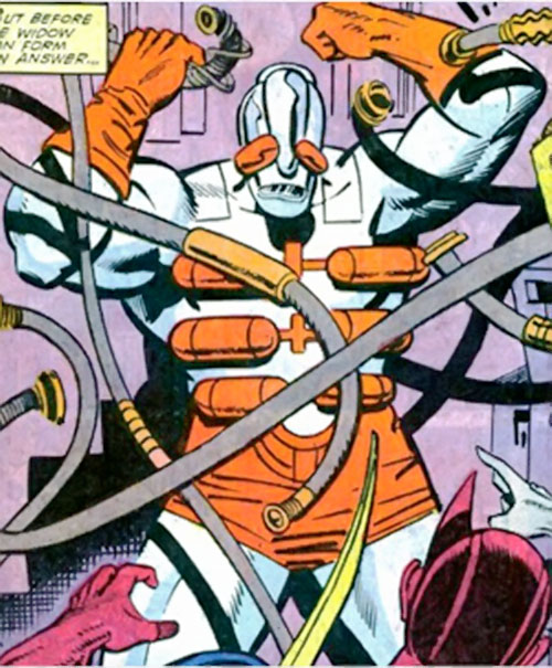 Attackoid (Hawkeye / Black Widow enemy) (Marvel Comics) and cables