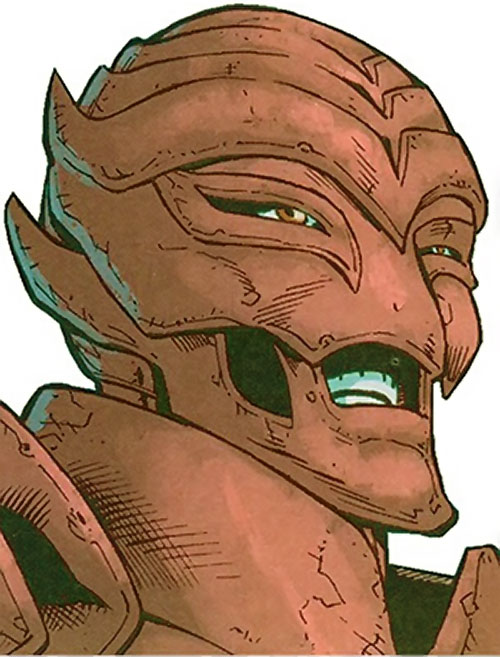 August General in Iron of the Great 10 (DC Comics) face closeup