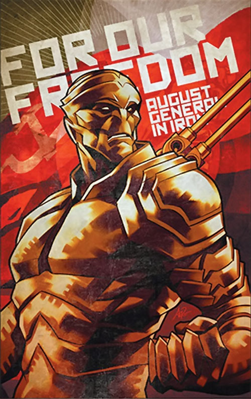 August General in Iron of the Great 10 (DC Comics) propaganda poster