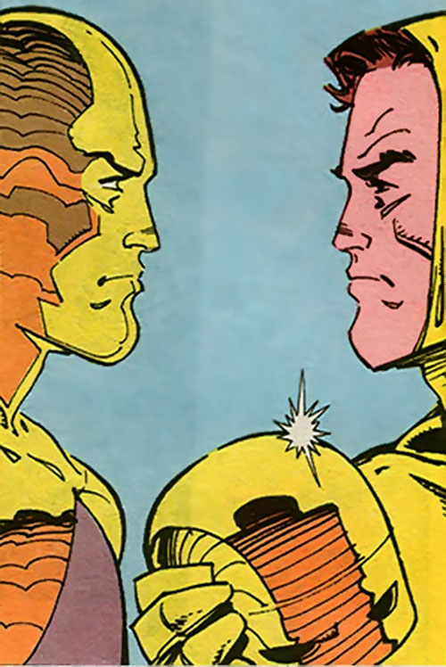 Auron (Superman ally) (DC Comics) and Jim Harper (Guardian)