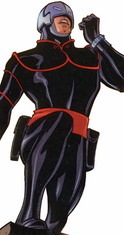 Avalanche (Marvel Comics) with the black and red costume