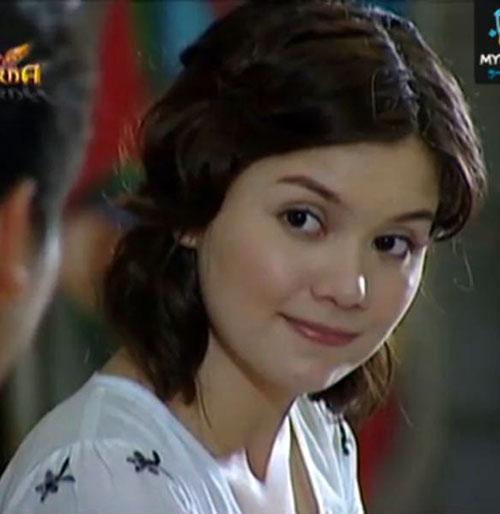 Babaeng Impakta (Nadine Samonte in Darna series) in a white dress