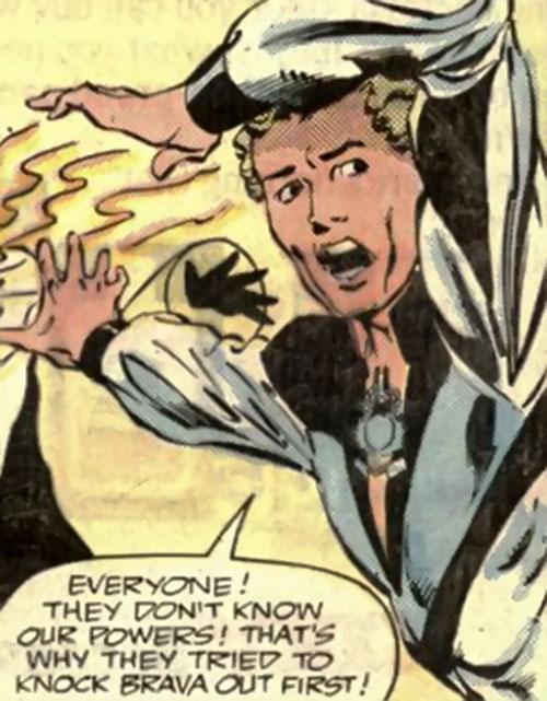 Backhand (Strikeforce Morituri) warns his team
