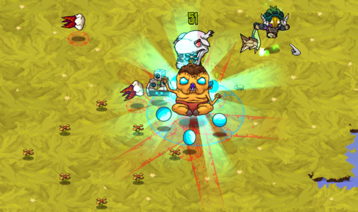 Baconweed Fairy in the Crashlands video games - big spell casting