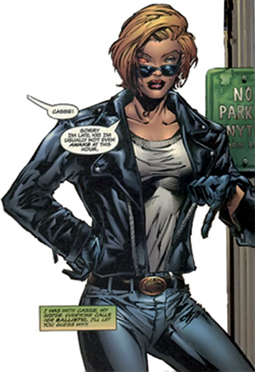 Ballistic from Cyberforce (Image Comics) in her civvies