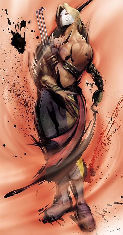 Balrog of Street Fighter video games splashy art