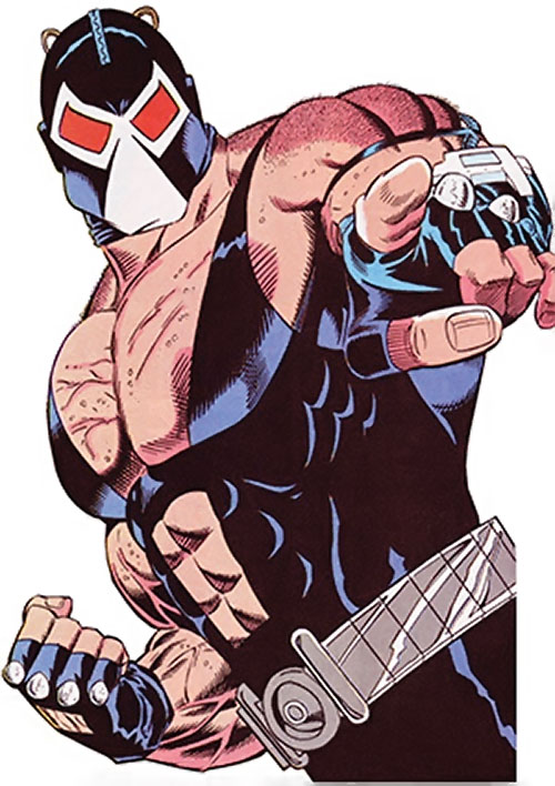 Bane (DC Comics) challenging his enemies