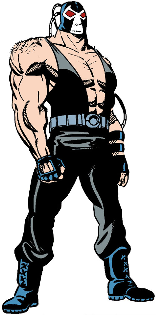 Bane (DC Comics) over a white background