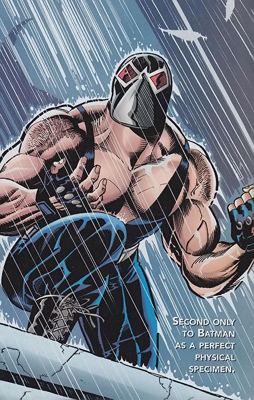 Bane (DC Comics) under pouring rain
