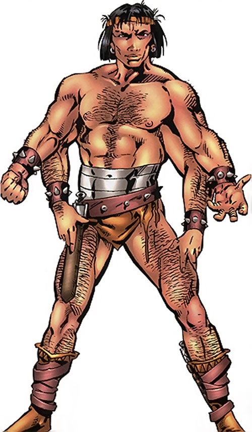 Barbarus of the Savage Land Mutates (Marvel Comics) over a white background