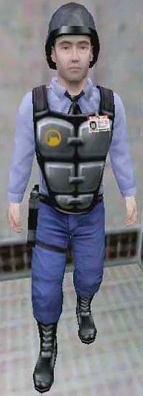 Barney Calhoun of Black Mesa security (Half Life Blue Shift)