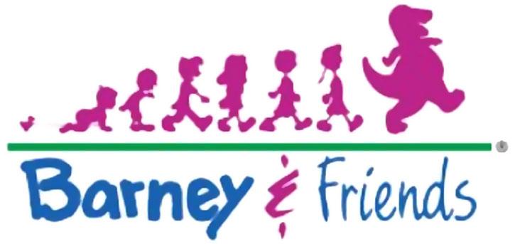 Barney and friends logo (dinosaur)