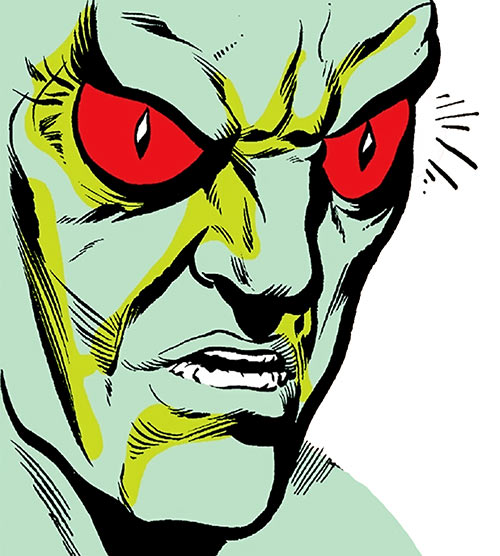 Basilisk (Marvel Comics) face closeup