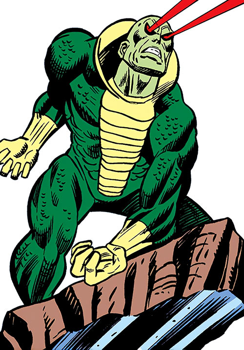 Basilisk (Marvel Comics) in action